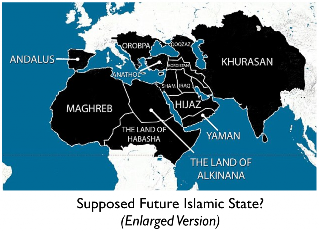 Map of islamic polling sites in the us