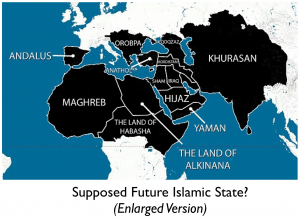 Future Enlarged Islamic State Map