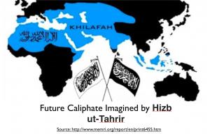 Hizb ut-Tahir Caliphate Map
