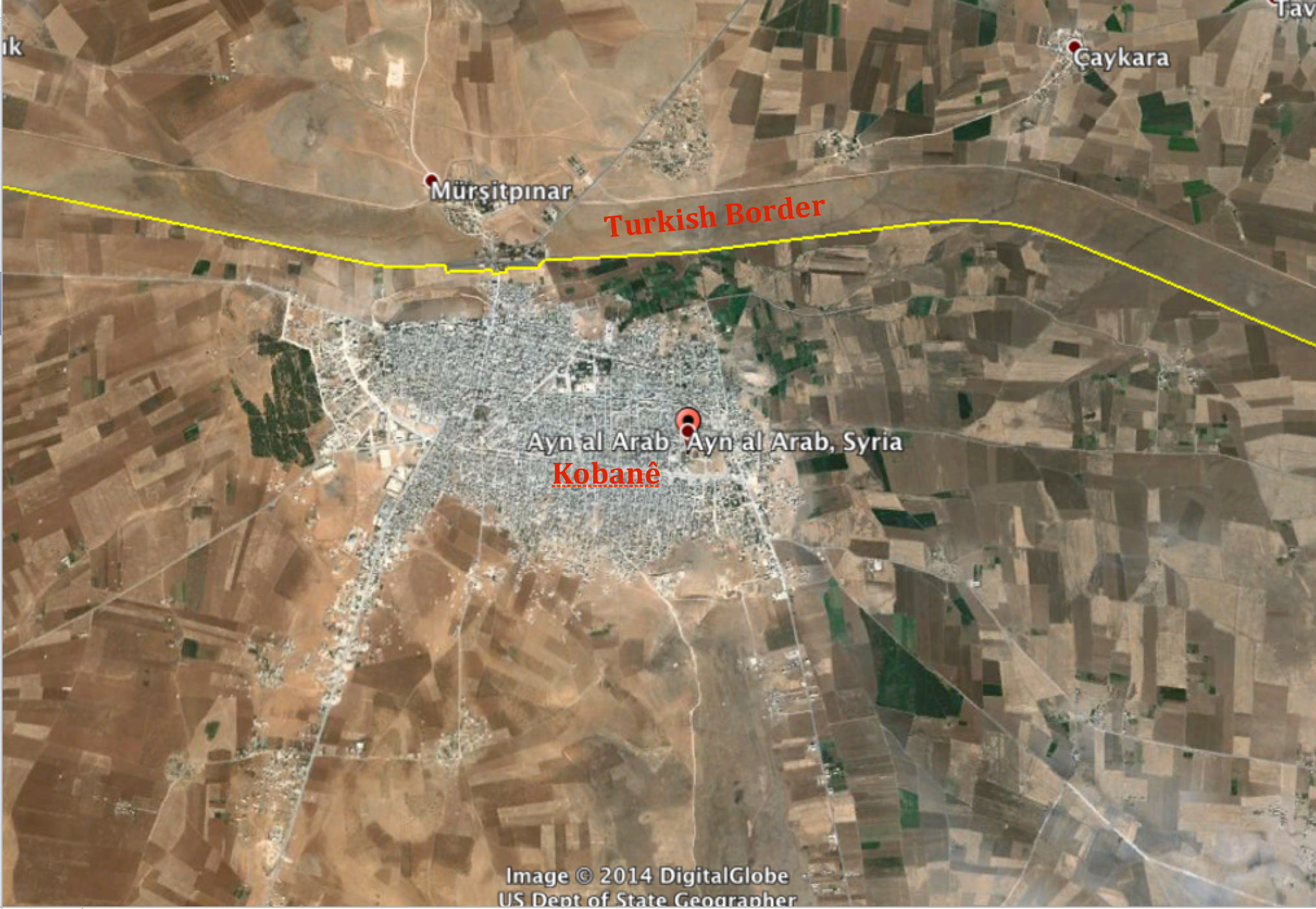 Isis advances and the kurds retreat in northern syria geocurrents kobane googler earth gumiabroncs Image collections