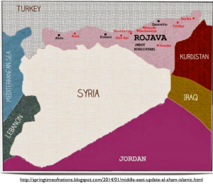 Syrian Kurdistan Aspirational Map