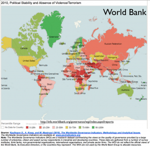 World Bank 2010 Political Stability Map