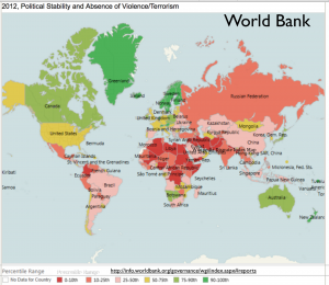 World Bank 2012 Political Instablity Map