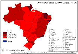 Brazil 2002 election map