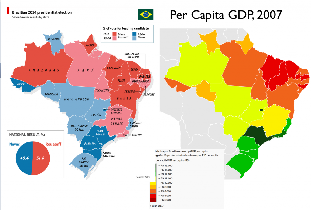 Elections GeoCurrents - Brazil election map