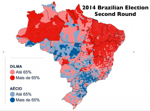 Brazil 2014 election  map districts