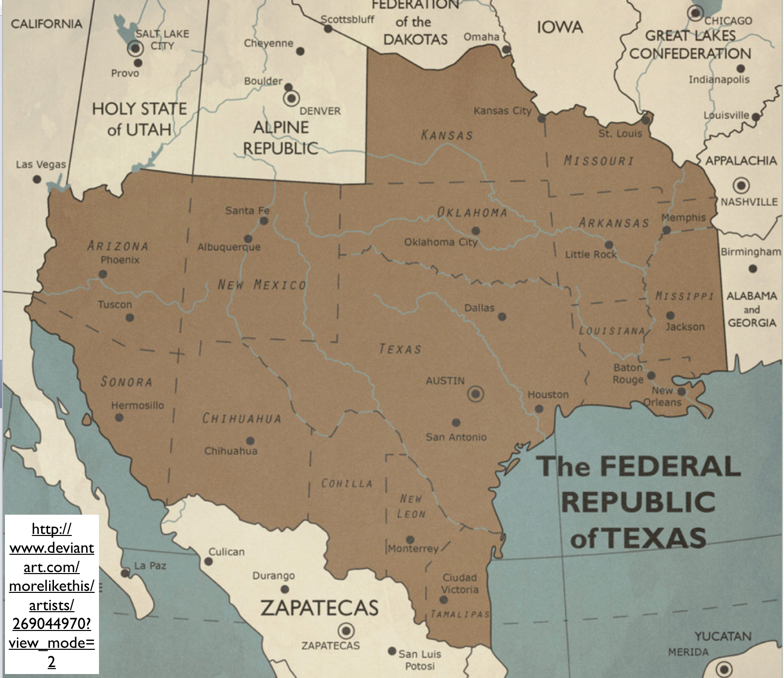 The Fantasy Political Maps Of DeviantART GeoCurrents - Texas political map