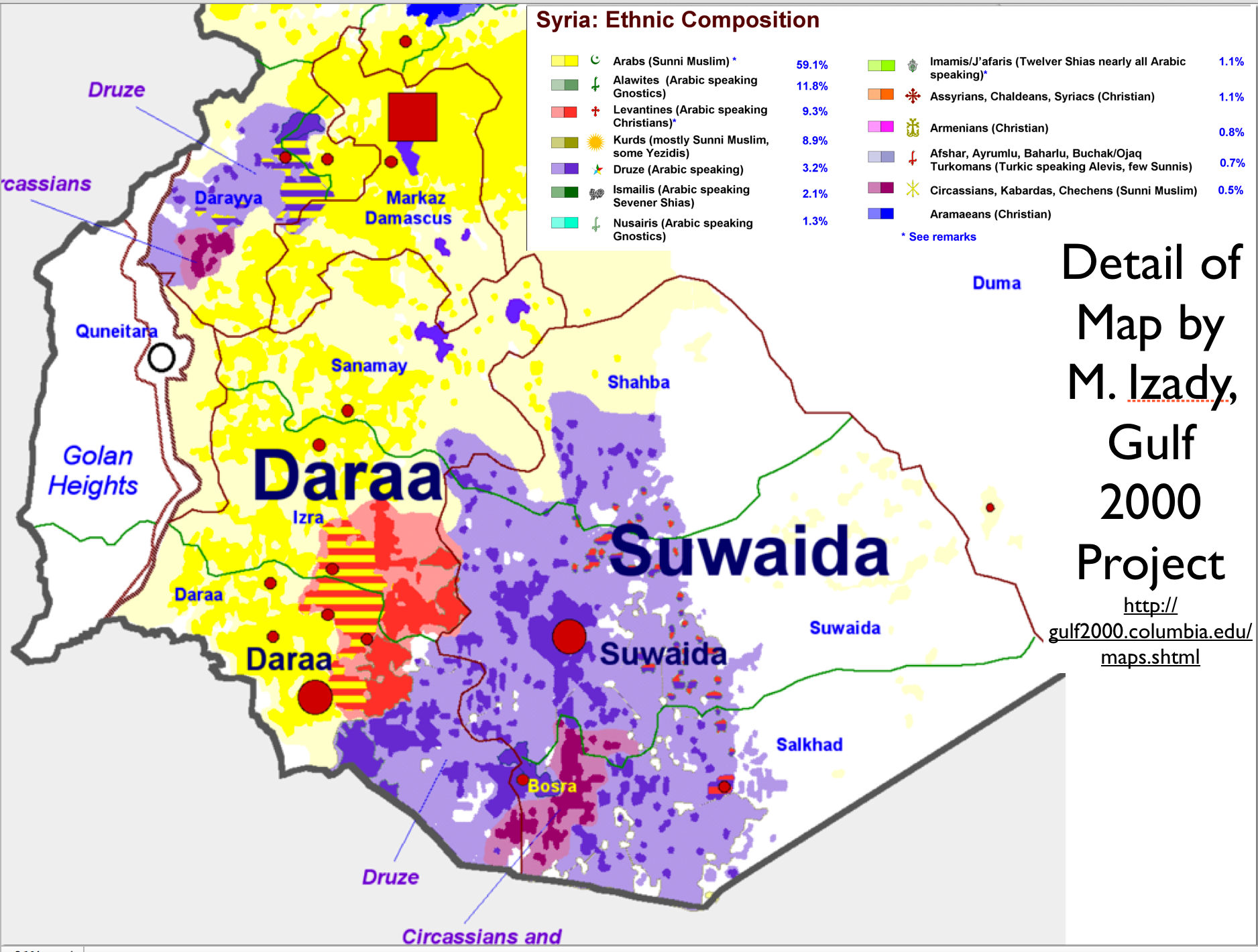 michael izady s amazingly detailed map of ethnicity in syria and syria ethnicity map detail 1