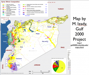 Syria Large Ethnicity Map