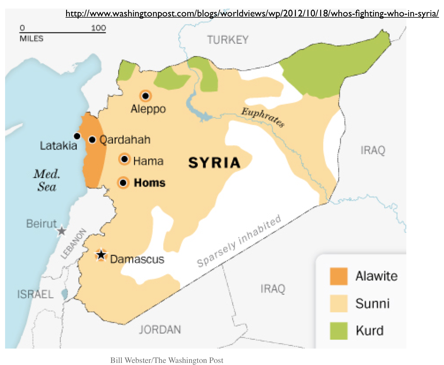 Michael Izady\'s Amazingly Detailed Map of Ethnicity in Syria