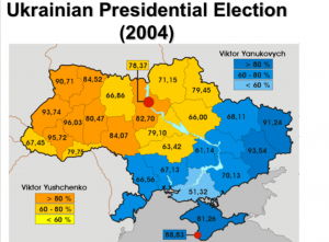 Ukraine 2004 election map