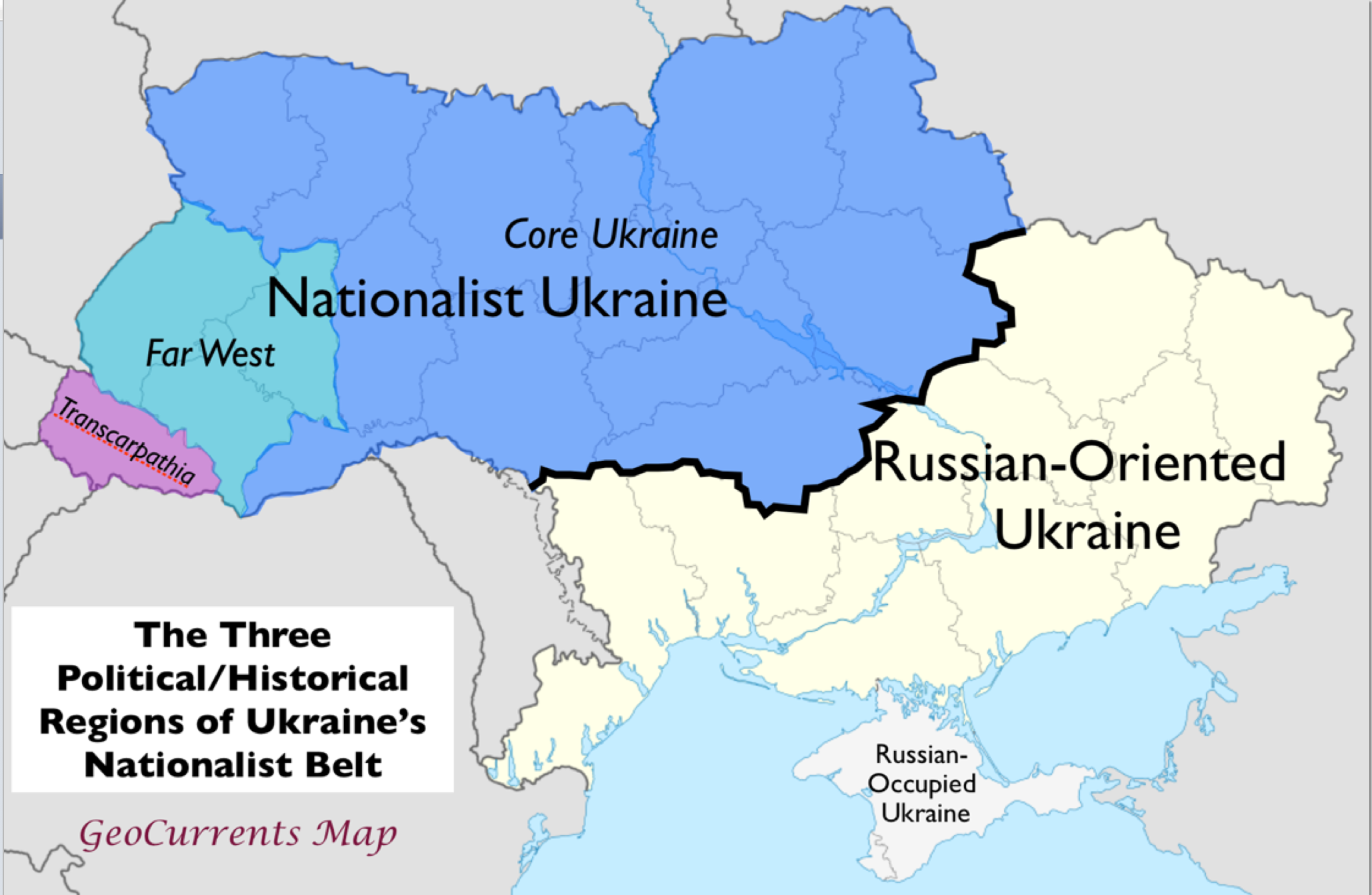 My Error On Ukraine S Political Divisions Geocurrents