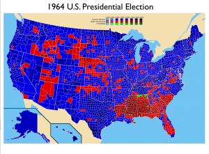1964 US Presidential Election Map
