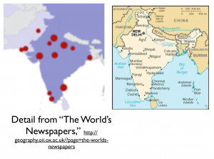 India Newspapers and Cities Map
