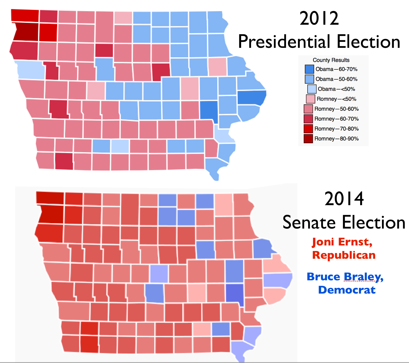 The Geography Of Iowa S Republican Shift Geocurrents