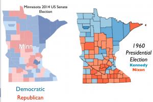 Minnesota 1960 2014 Election Map