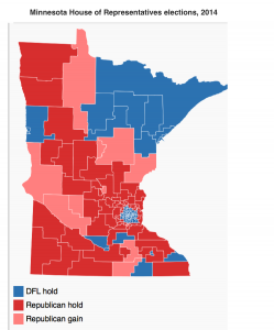 Minnesota 2014 State House Map