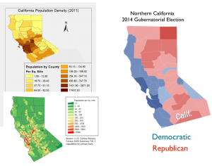 Northern California Voting and Population Density Map