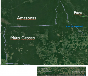 Satellite Image Northwest Mato Grosso