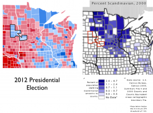 Scandinavian Voting Minnesota Map