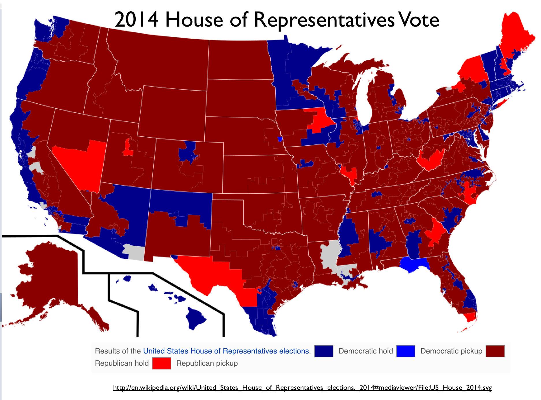 the pronounced clustering of democratic us 2014 house vote