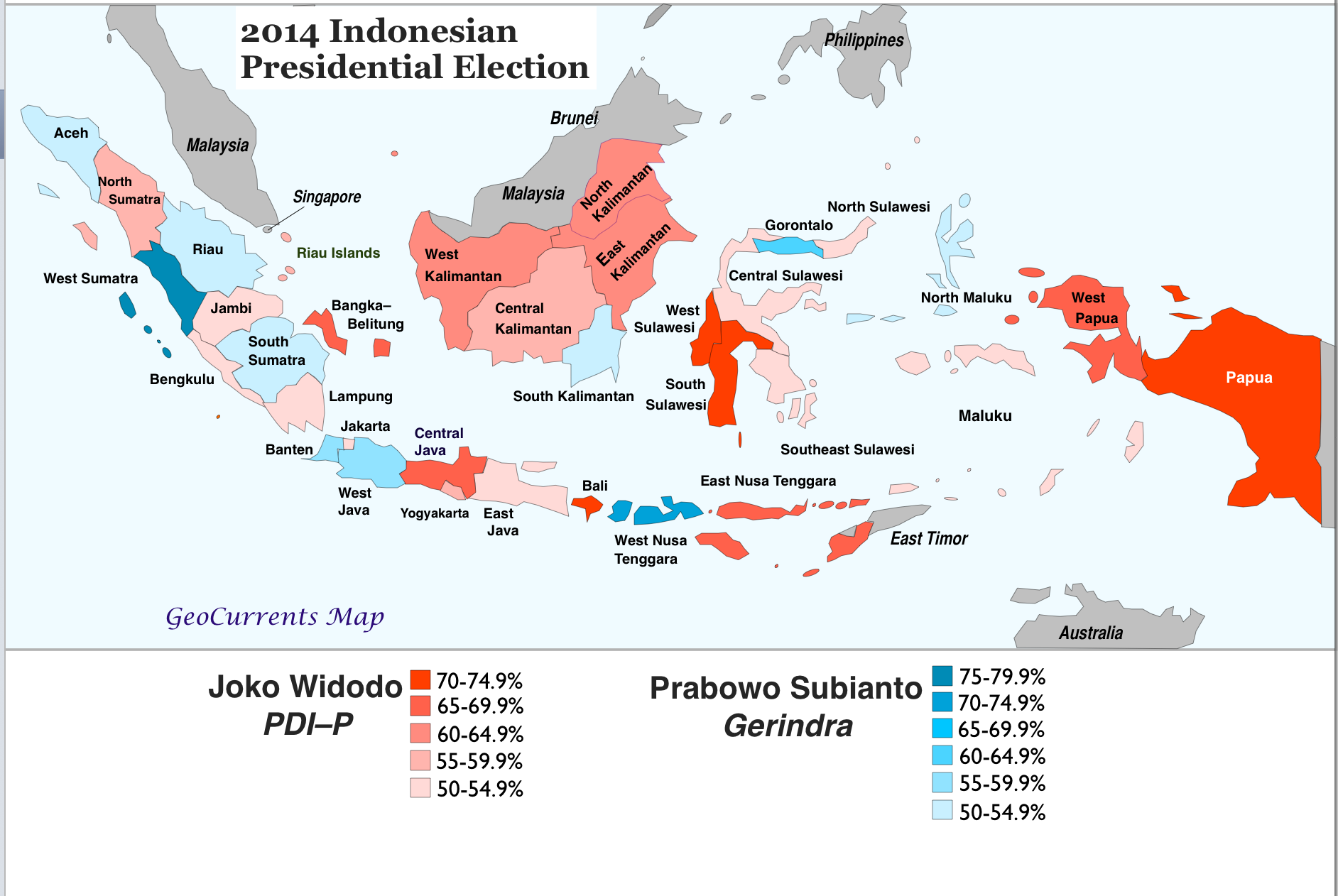 The Uncertain Role Of Religion In Indonesias Presidential - Religion map of world 2014