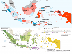 Indonesia 2014 election religion maps