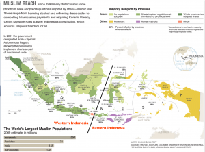 Indonesia Religion Map