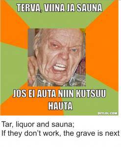 Tar Liquor Sauna