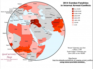 Combat Fatalities Map