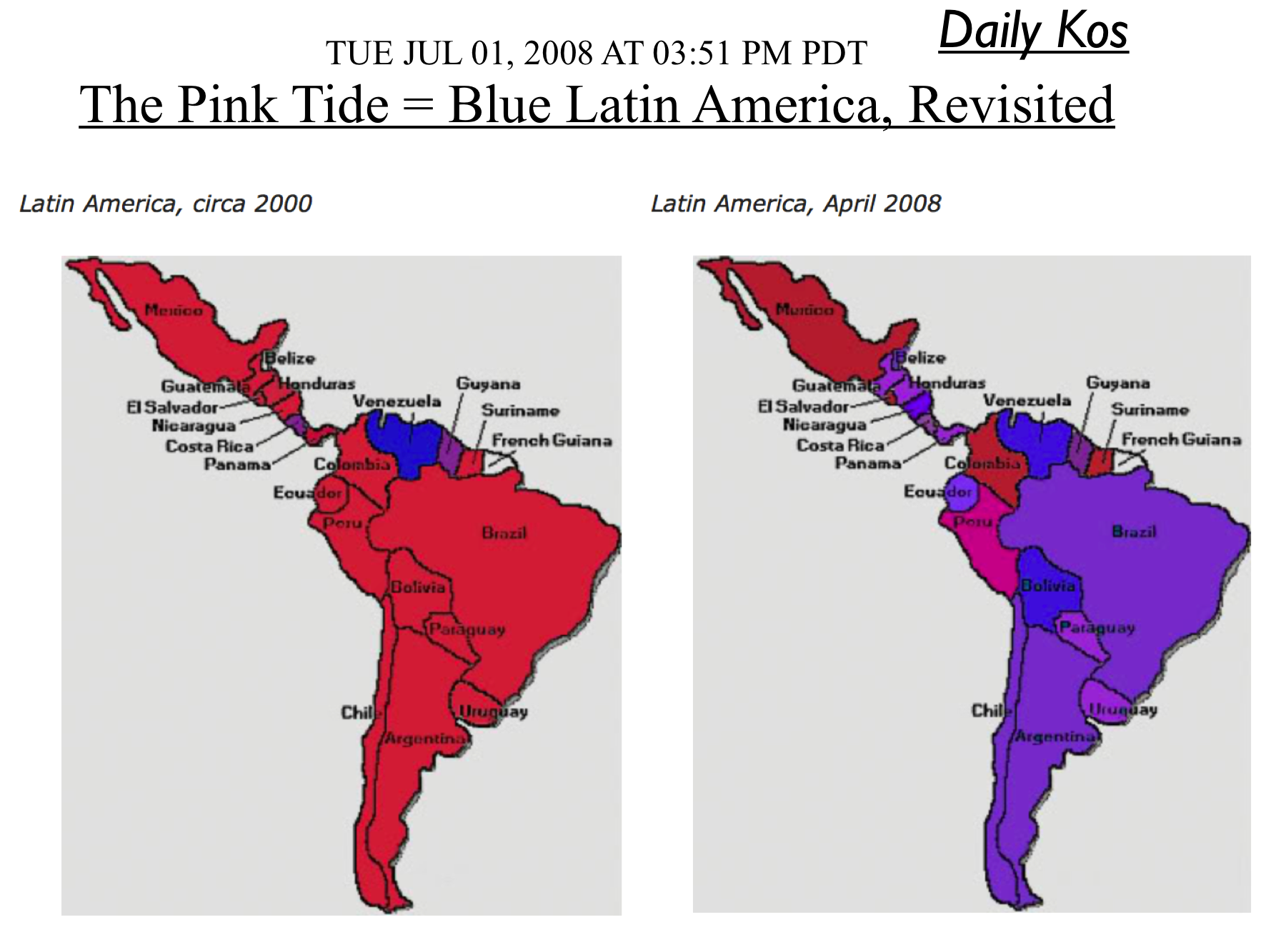 Attempts To Map Latin Americas Political Spectrum GeoCurrents - Political leanings map us