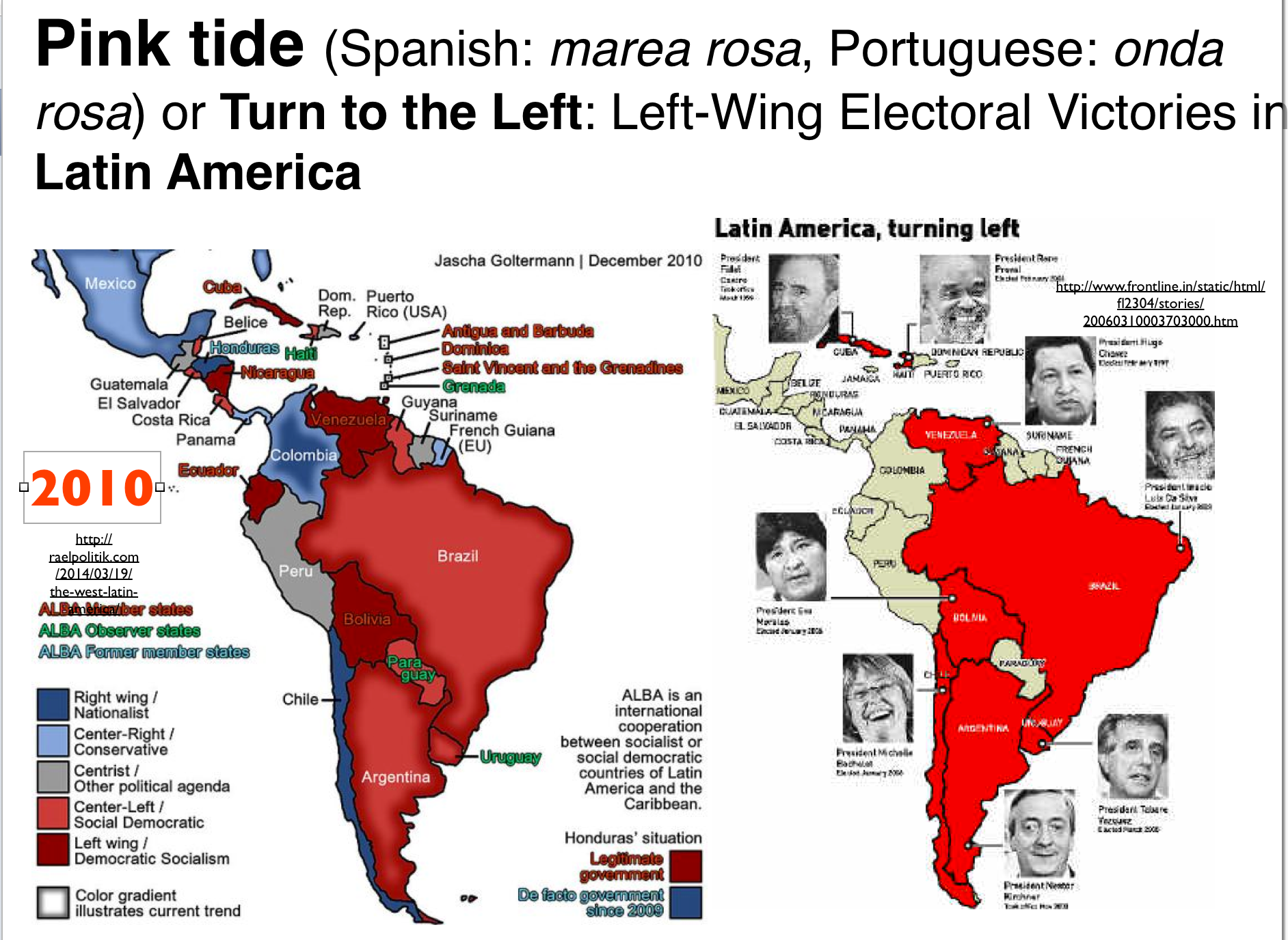 Attempts to map latin americas political spectrum geocurrents latin america pink tide maps publicscrutiny Image collections