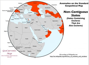 Non-Contiguous States Map