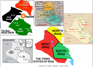 division of Iraq Maps