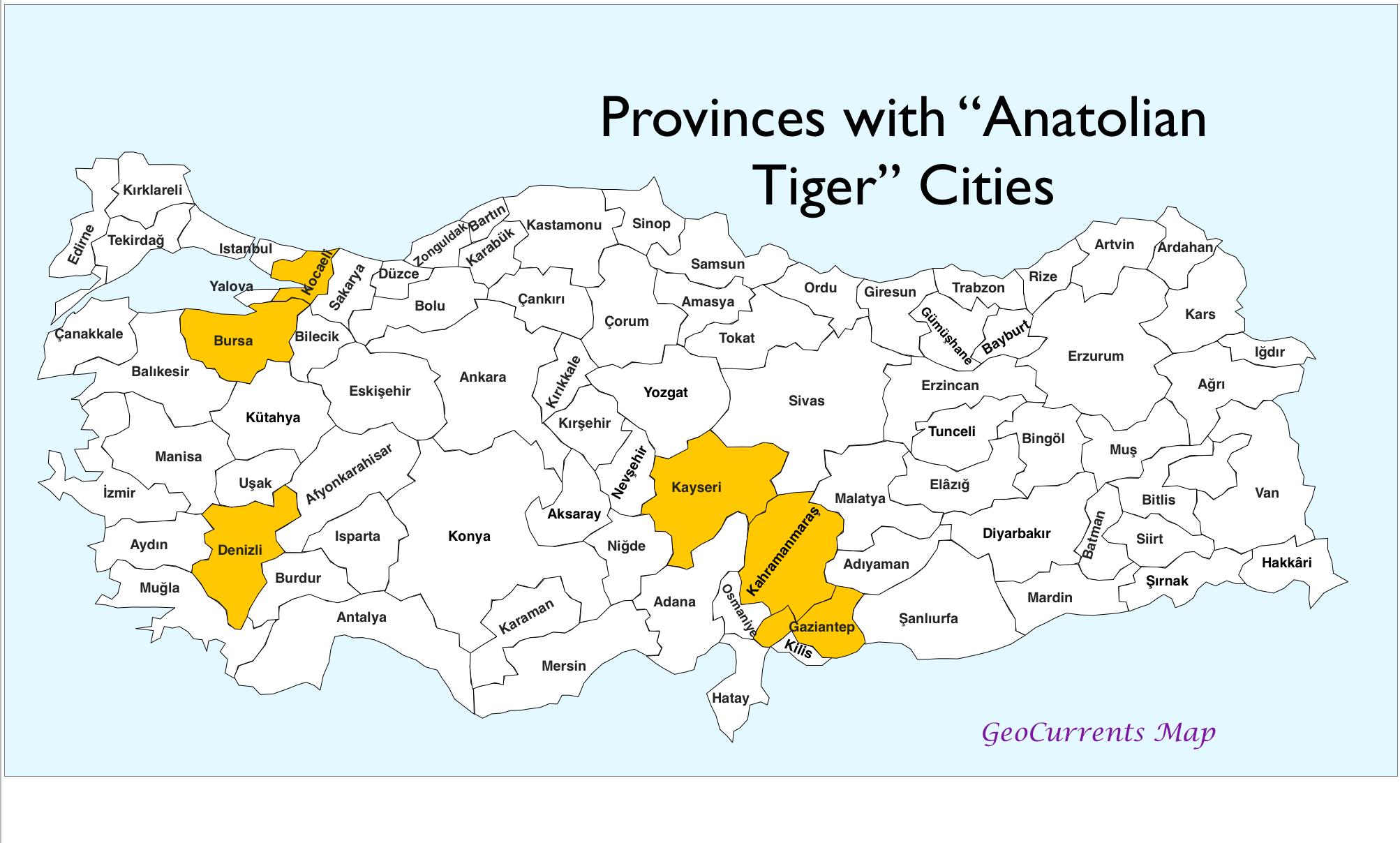 GeoCurrents Maps of Turkey GeoCurrents