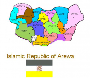 Division of Nigeria Map 1