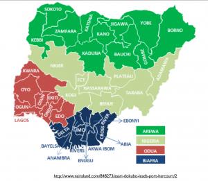 Division of Nigeria Map 4