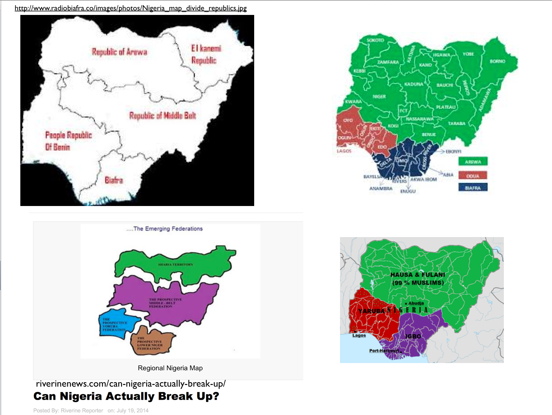 three major regions of nigeria The report also divides the world into six major regions and looks at how each region's religious composition is likely to change from 2010 to 2050, assuming that current patterns in migration and other demographic trends continue 8.
