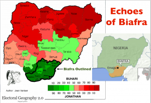 Nigeria 2015 Election Biafra Map