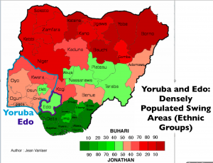 Nigeria 2015 Election Yoruba Map