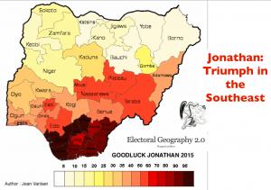 Nigeria 2015 election Jonathan Vote Map