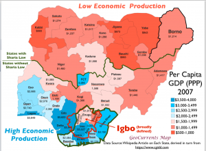 Nigeria Econony Igbo People Map
