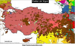 Turkey Language Map 1