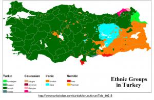 Turkey Language Map 2