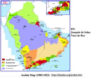 Arabia 1905-1923 Map