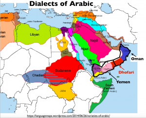 Arabic Dialects Map