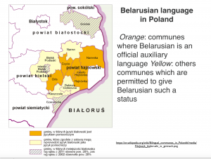Belarussian Language in Poland Map