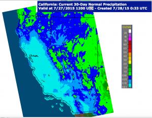 California July Rainfall 2015 Map 3