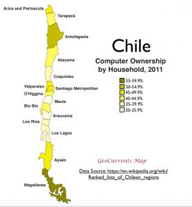 Chile Computer Ownership Map