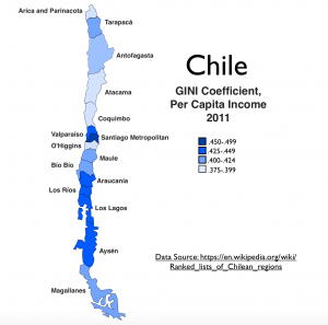 Chile GINI Map